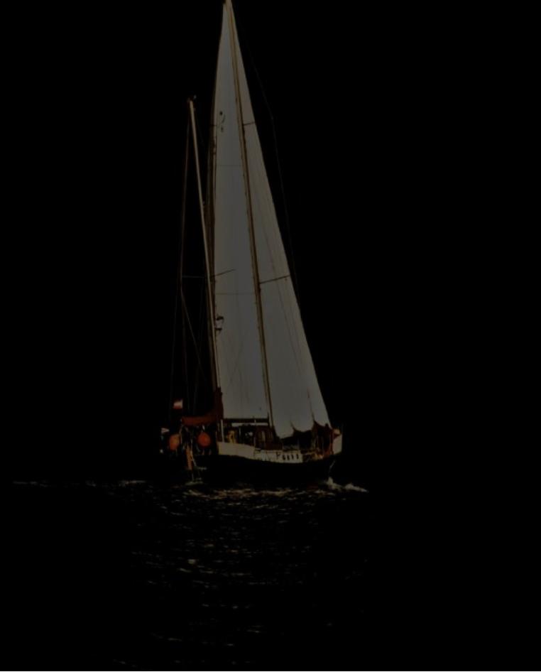 Segeln in der Dunkelheit