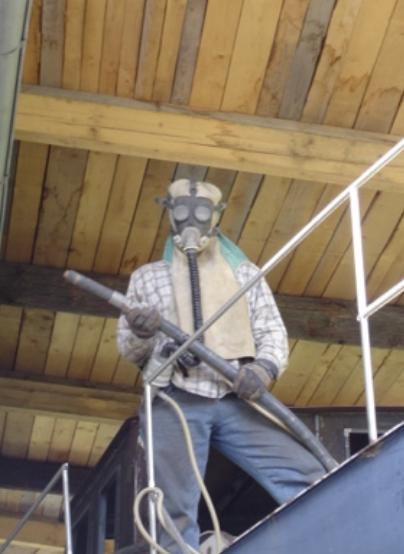 Schutzausrüstung Sandstrahlen