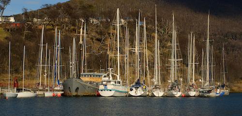 im südlichsten Yachtclub der Welt