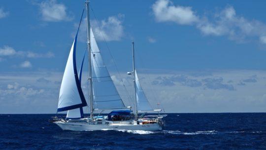 Eine Ketsch als Blauwasseryacht