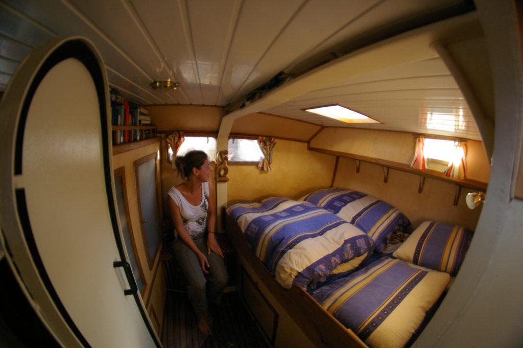 An Bord leben, nicht campen
