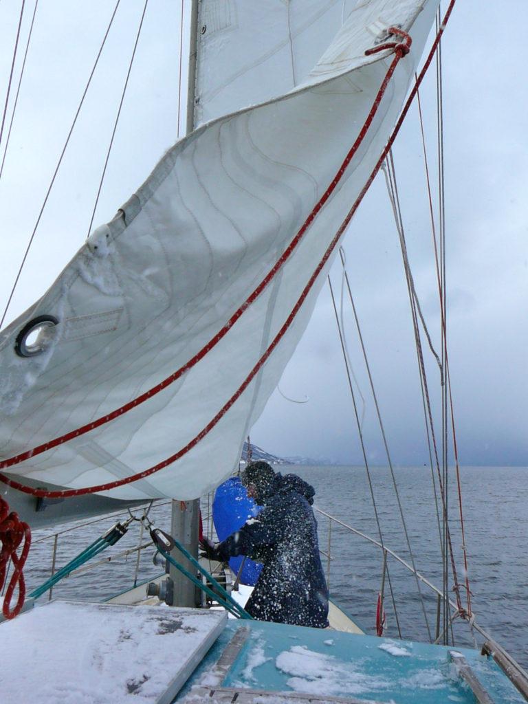 Die Sicherheit der Crew an Deck