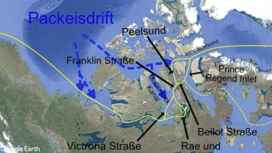 Nordwest Passage segeln: Routenplanung